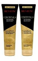 Revlon GLOWING BLONDE ColorStay Moisturizing Set with 1 Shampoo 1 Conditioner   - $21.94