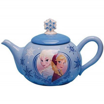 Walt Disney Frozen Movie Elsa and Anna Image Ceramic 36 oz Teapot NEW UNUSED - $58.00