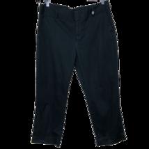 Anne Klein Womens Pants Black Cropped Cotton Blend Size 10 - $18.65