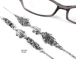 Silver Turtles Eyeglasses Beach Chain Necklace Steel Byzantine Maille Je... - $29.00+
