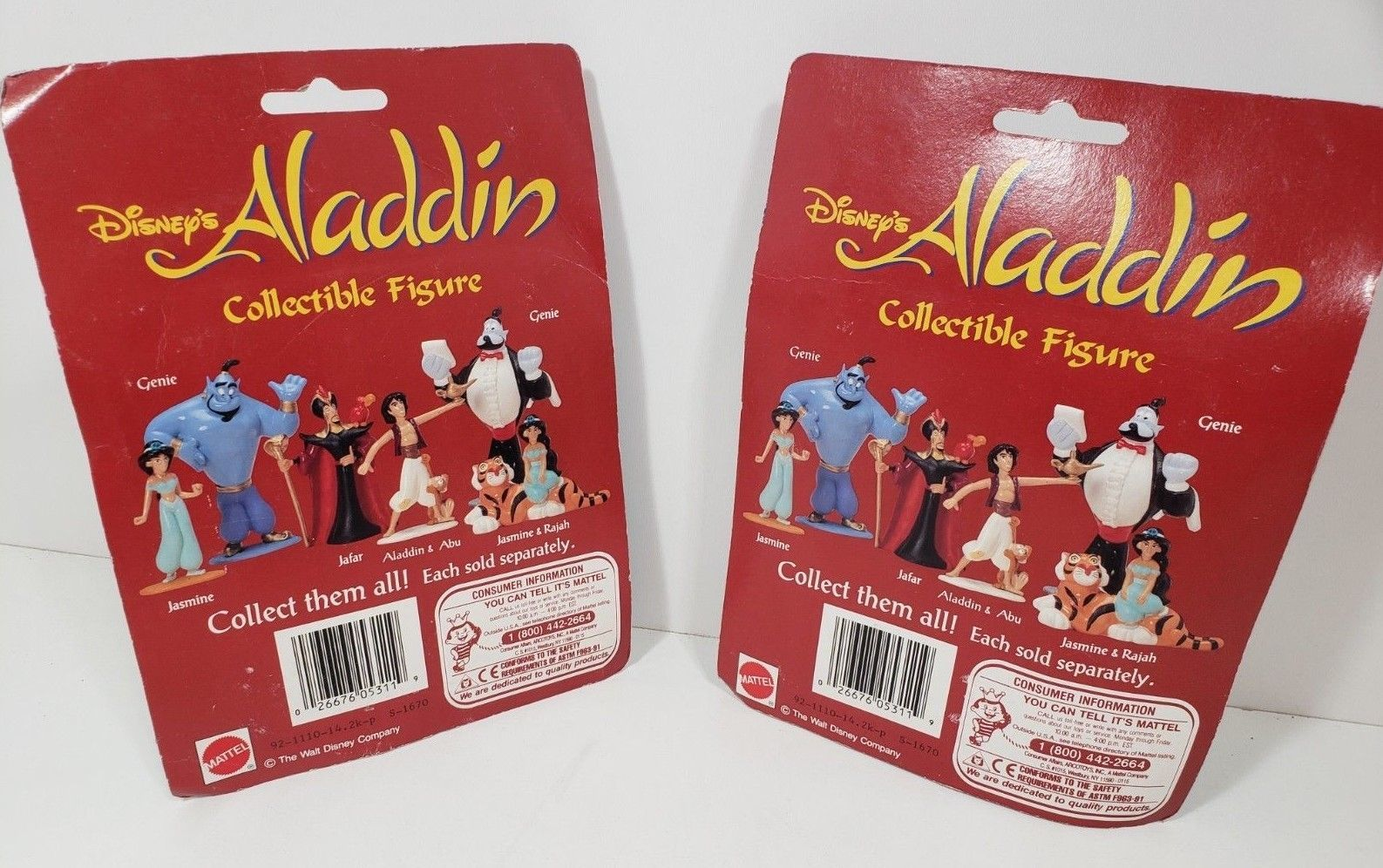 Set of 2 Mattel Disney's Alladdin Collectible figure - Genie image 3