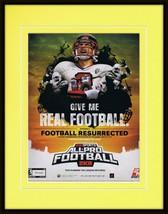 All Pro Football 2K8 XBox Framed 11x14 ORIGINAL Vintage Advertisement - $34.64