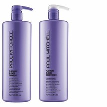 John Paul Mitchell Platinum Blonde Shampoo Conditioner 33.8 oz Liter - $53.67