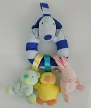 Carters Baby Tykes Blue Dog Ring Take Along Baby Clip Toy Bear Duck Bunn... - $29.69