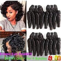 Molefi Brazilian Virgin Funmi Hair Bundles Spiral Curl Hair 5 Bundles Short Curl