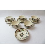 Vintage USA Syracuse China set of cups and saucers Americana Pottery Floral deco - $49.00