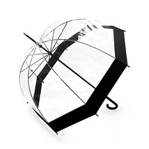Lavievert Bubble Umbrella Birdcage Clear Umbrella with Black Border - $23.42