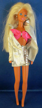 Mattel Barbie Doll 1976 Bleach Blonde Hair in Shiny Silver Skirt and Jacket - $9.90