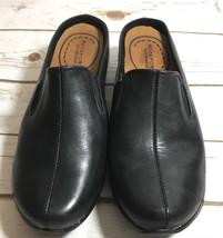 ROCKPORT DMX Waterproof  Womens Black Leather Low Heel Slides Loafer Mul... - $24.70