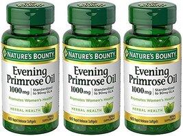 Evening Primose Oil 1000 mg, 3 Bottles (60 Count) - $55.42