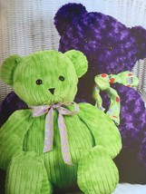 Kwik Sew Sewing Patterns 3246 Large and Small Bears Soft Toys New - $14.85