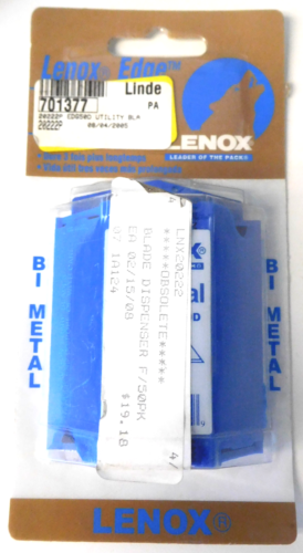Primary image for Lenox EDGE 20222 Bi-Metal Utility Blades with Dispenser Brazil
