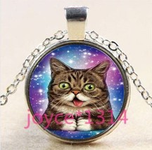 Cute Goofy Cat Cabochon Necklace ..L@@K.. ** C/S & H Available ** 803 - $2.80