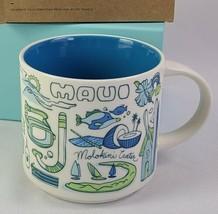 Starbucks MAUI Hawaii Been There Ceramic Coffee Cup 14 oz Mug Hana Molokini - $36.95