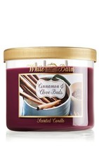 1 X Bath and Body Works Cinnamon & Clove Buds 3 Wick Candle 2012 Design ... - $53.44