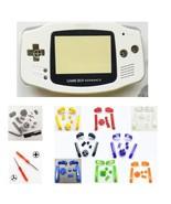 GBA Nintendo Game Boy Advance Replacement Housing Shell Screen White BUT... - $11.83+
