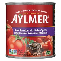 2PACK Aylmer Diced Tomatoes with Italian Spices 796ml-CANADA -FRESH & DE... - $9.85