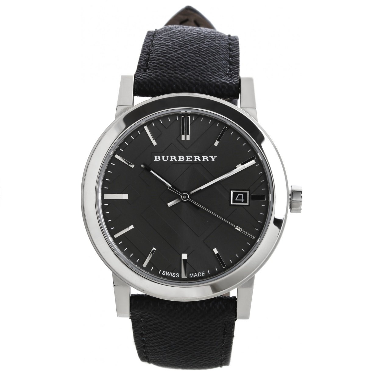 Burberry Men's Watch BU9030 Grey Dial Black Polyvinyl Strap