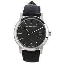 Burberry Men's Watch BU9030 Grey Dial Black Polyvinyl Strap - $259.00