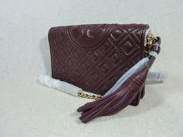 NWT Tory Burch Claret Fleming Wallet Cross Body Bag $328 image 2