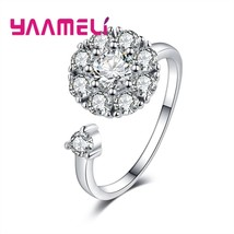 Luxury Rotatable Special Charm Design 925 Sterling Silver Ring Love Ring... - $8.10