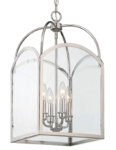 NEW Visual Comfort STYLE ARCH TOP Glass LANTERN Chandelier Polished Nickel - $312.00