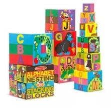 Melissa & Doug Alphabet Nesting & Stacking Blocks - 10 Sturdy Blocks - $17.72