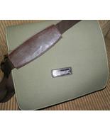 EuroSport Sling Messenger Olive Green Canvas Bag IPAD Holder Tablet Weat... - $38.00