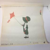 """Boy Flying Kite Needlepoint Canvas 18"""" x 18"""" Reynolds 10 Mesh - $29.02"""