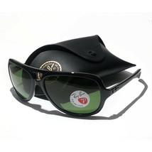 Ray-Ban Polarized Men Sunglasses RB 4162 Aviator Style Black Frame Green... - $145.50