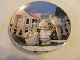 God Loveth A Cheerful Giver Precious Moments Collector Plate Sam Butcher (H1) - $22.28
