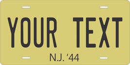 New Jersey 1944 License Plate Personalized Custom Car Bike Motorcycle Moped key - $10.99+