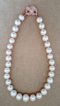 Natural Japanese Cultured Round Pearl Necklace ... - $398.00