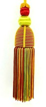 Shapely Multi-Color Tassel Christmas Ornament Lamp Pull 2 Inch Wide & 8 ... - $11.84