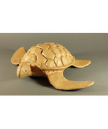 Natural Biodegradable Paper Turtle Urn,Hand Crafted Adult Funeral Cremation Urn - $229.99