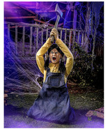Halloween prop Animated 4.3 Ft Ellie Hatchet Animatronic (sh) O12 - $643.50