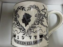 Wedgwood Queens Ware Silver Jubilee Vintage Wedgwood Guyat Mug Elizabeth... - $73.37