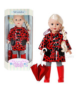 "NEW Madame Alexander Girlz 2014 Red Black Polka Dot Raincoat 18"" Blonde ... - $69.99"