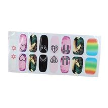 [Set of 2]Easily Apply 12 PCS Salon Artificial Nail Polish Sticker, Free Style