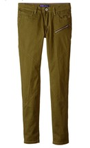 Levi's Big Girls' Quinn Denim Legging, Dark Olive, Size 14 Reg - $19.79