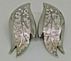 Vintage Silver Tone Monet Clip Earrings - $14.89