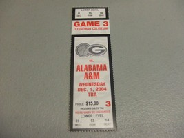 Alabama A&M Bulldogs vs Georgia Bulldogs (12-1-2004) Basketball Ticket S... - $3.12