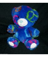 "6"" BUILD A BEAR SMALLFRYS BLUE PEACE SYMBOLS TEDDY STUFFED ANIMAL PLUSH ... - $18.70"