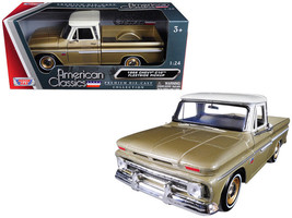 1966 Chevrolet C10 Fleetside Pickup Truck Gold 1/24 Diecast truck by Mot... - $39.95