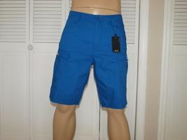Armani Exchange Originale Zip Laterale Shorts Blu Nuova con Etichetta - $42.99