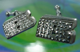 """Vintage Sterling 925 Silver and Marcasite Initial """"B"""" Unisex Cufflinks - €33,84 EUR"""