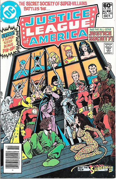 Primary image for Justice League of America Comic Book #195, DC Comics 1981 NEAR MINT
