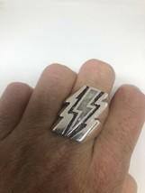 Vintage Lightning Mens Ring Mother Of Pearl Size 12.5 - $34.65
