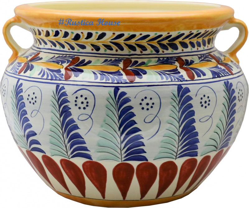 90382 ceramic talavera mexican hand painted planters 1 size1