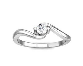 Real Natural 0.12 Ct Round Brilliant Cut Diamond Solitaire Engagement Ring - $273.00